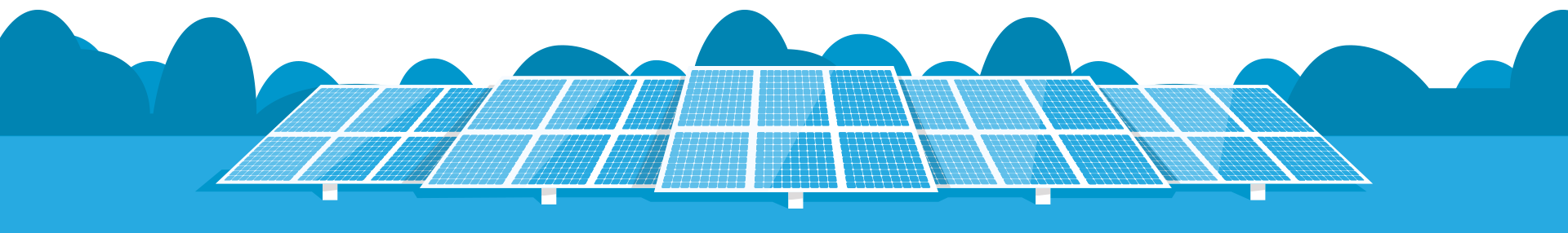 Illustration: Solar power array