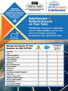 SolarSuccess + NetSuite Experts on Your Team