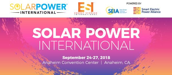 Solar Power International 2018. Energy Stroage International. SEIA Solar Energy Industries Association. Smart Electric Power Alliance