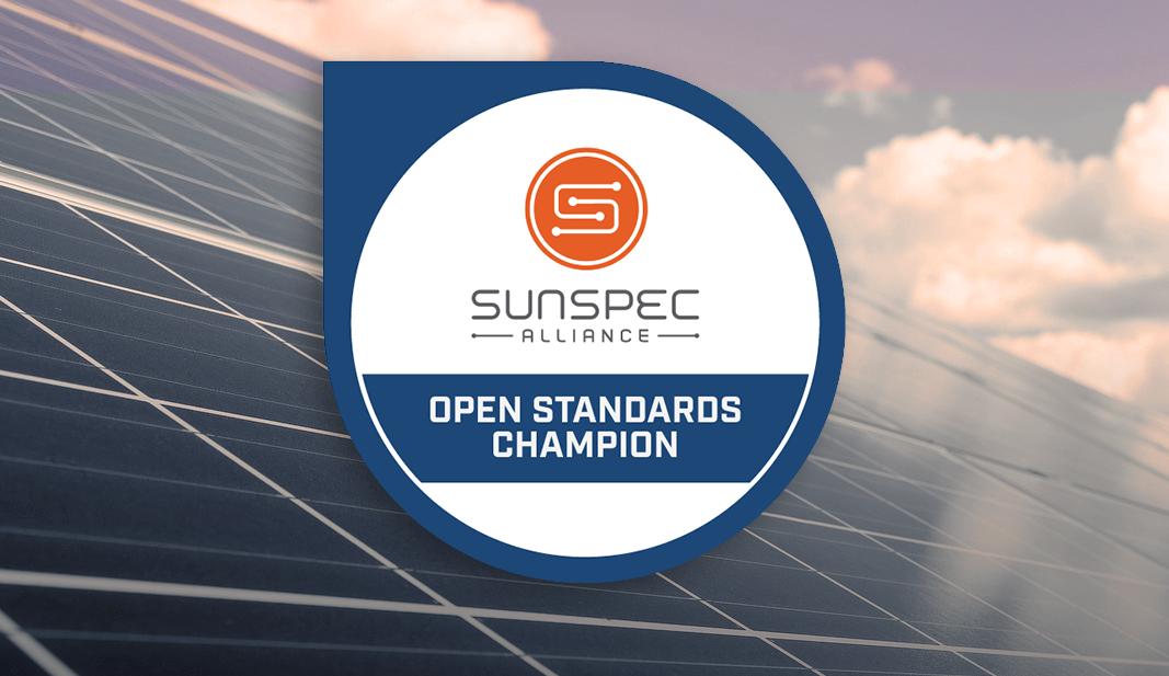 SunSpec Alliance Open Standards Champion Award