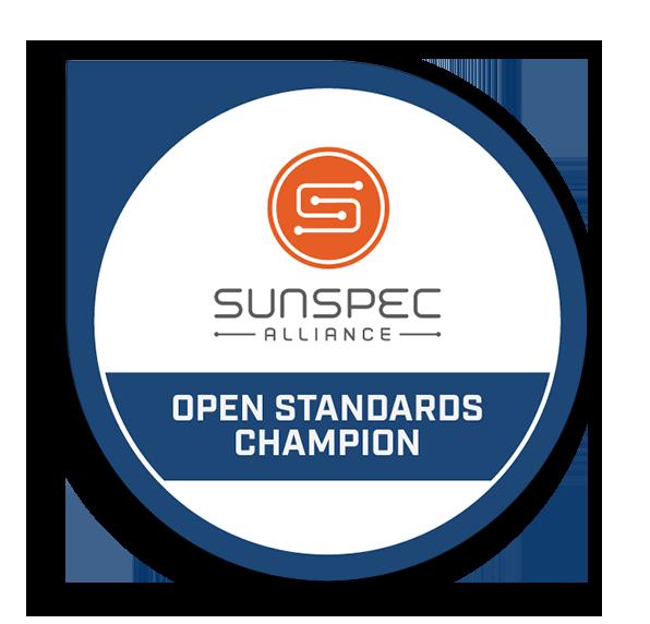 SunSpec Alliance Open Standards Champion Award logo