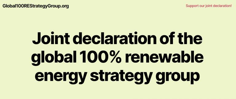 Global100REStrategyGroup 10 Point Joint Declaration. Joint declaration of the global 100% renewable energy strategy group