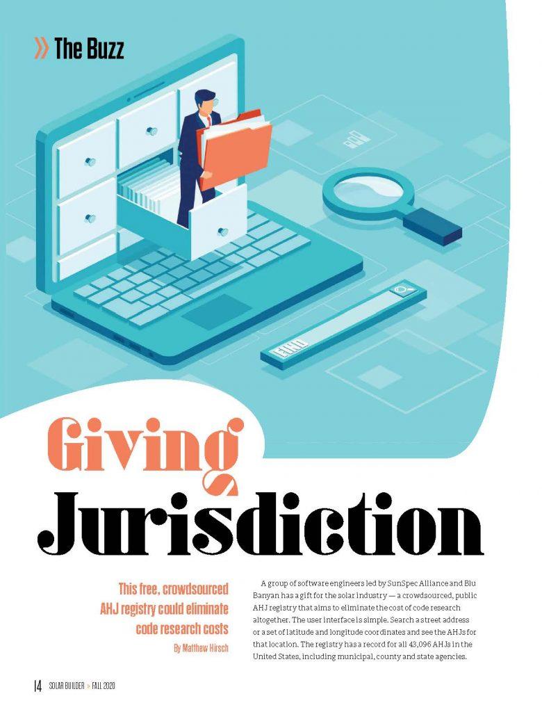 Solar Builder Magazine Article - Giving Jurisdiction