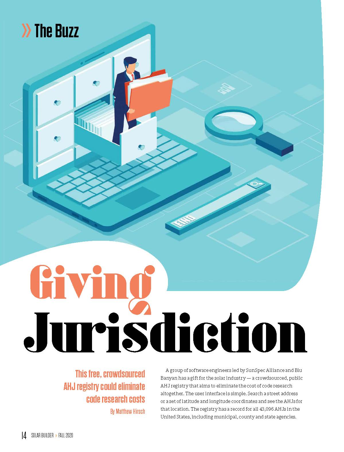 Solar Builder Magazine Article - Giving Jurisdiction